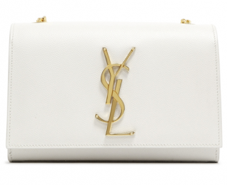 Saint Laurent White Small Monogram Kate Satchel