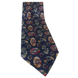 Fendi Men's Vintage Blue Silk Tie