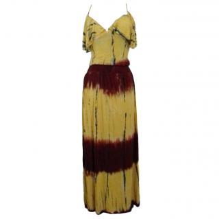T-Bags Gold Tie-Dye Dress