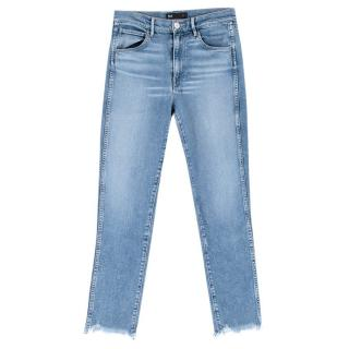 3x1 NYC High Waisted Cropped Blue Wash Jeans
