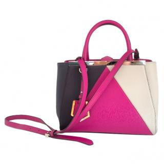 Fendi Petite 2Jours triple triangle� colour-block tote