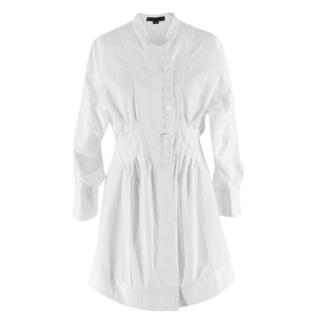 Alexander Wang White Button Down Tunic W/ Mandarin Collar