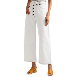 Rejina Pyo Emily High-rise Wide-leg White Jeans