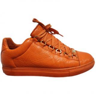 Balenciaga Orange Arena Low-Top Sneakers