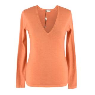 Colombo Peach Cashmere Long sleeve Top