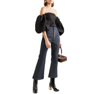 Ellery Blue High waist Cropped Flared Jeans