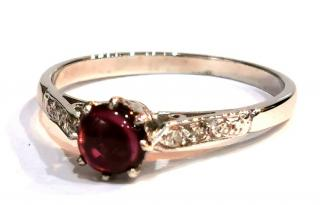 Bespoke garnet and white gold ring