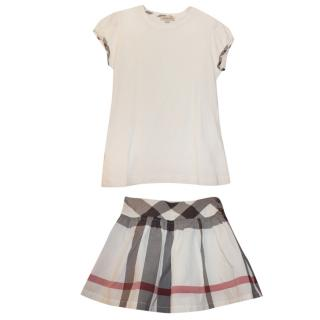 Burberry Girl�s 10 Years Nova Check Skirt & Top