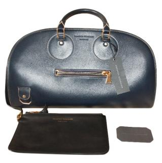 Proenza Schouler Navy Leather Kiri Tote Bag & Wallet