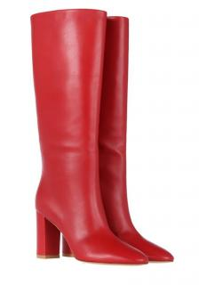 Gianvito Rossi Tabasco Red Laura 85 leather knee high boots