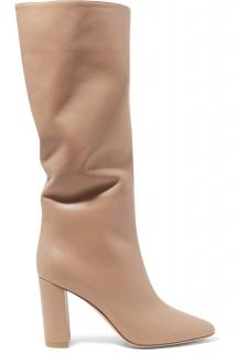 Gianvito Rossi Milano Bisque Laura 85 leather knee high boots