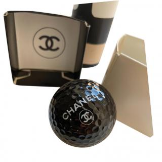 Chanel collectors black display golf ball