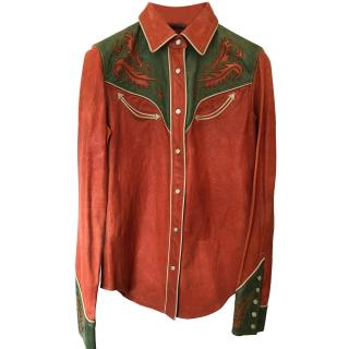 Ralph Lauren Leather Cowboy Shirt