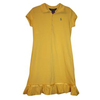Ralph Lauren Girl's 8-10 years Yellow Polo Dress