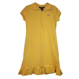 Ralph Lauren Girl's 8-10 years Yellow Polo Dress