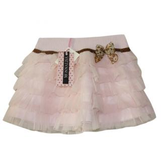 Monnalisa Girl's 7 years Organza Layered Skirt