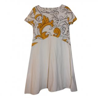 Young Versace Girl's XL White Medusa Dress