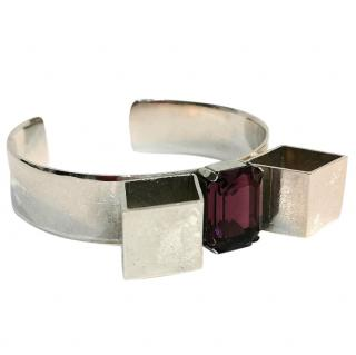 Bijouled Gemstone Bow Cuff