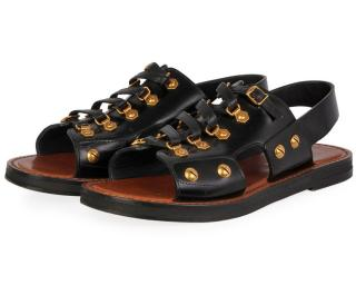Dior wildior black studded sandals
