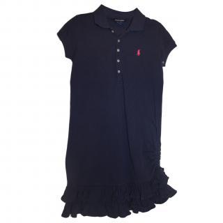 Ralph Lauren Girls 8-10 Years Blue Polo Dress