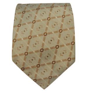 Ermenegildo Zegna Green Silk Printed Tie