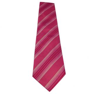 Turnbull & Asser Pink Silk Textured Tie