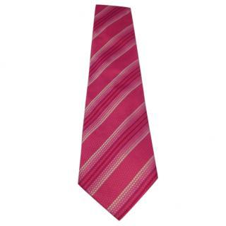 Turnbull & Asser Pink Silk Textured Tie