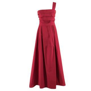 Max Mara Strapless One-shoulder Dress
