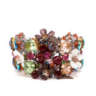 Anne Caro de Lascaux Crystal Multicolour Bracelet