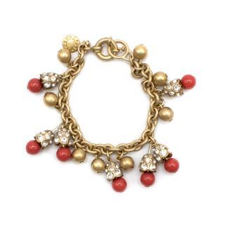 J.Crew Gold Tone Embellished Bracelet