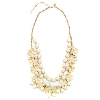 J.Crew Cream Floral Multistrand Necklace