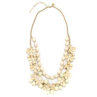 J.Crew Cream Floral Multistrand Necklace