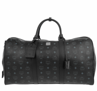 MCM monogram weekender bag in black