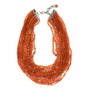 Bespoke Multistrand Orange Necklace