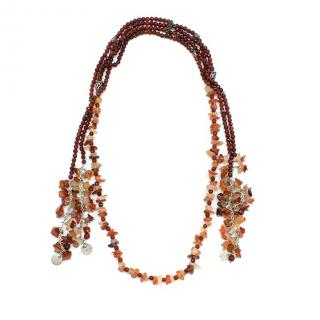 Bespoke Brown Crystal Double-layered Necklace