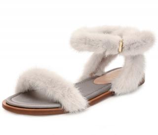 Valentino Garavani mink fur sandals