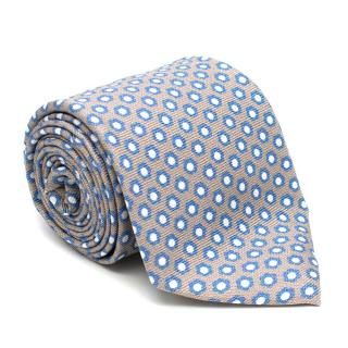 Doriani Grey Pattern Silk Tie
