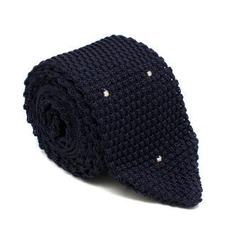 Kilgour Silk Navy Knit Tie