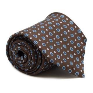 Marzullo Silk Brown Pattern Tie