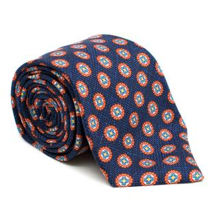 Kiton Silk Blue Pattern Tie