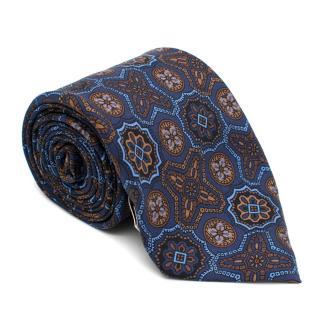 Viola Milano Silk Blue Pattern Tie