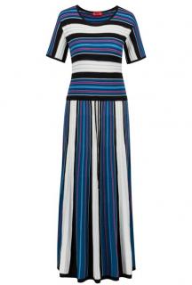 Hugo Boss Striped Knit Midi Dress