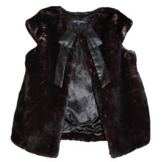 Lili Gaufrette Girl's Faux Fur Gilet