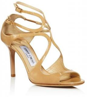Jimmy Choo Ivette 85mm Nude Sandals