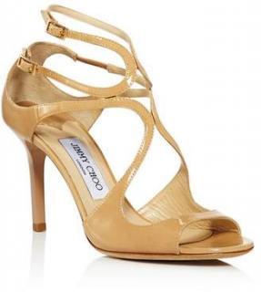 Jimmy Choo Ivette 85mm Nude Sandals