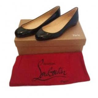 Christian Louboutin fifi patent leather ballet flats