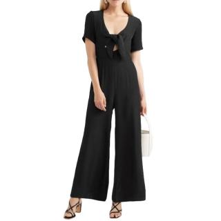 Staud Black Gabriella Cady Jumpsuit