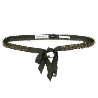 J.Crew Khaki Bead Embellished Belt