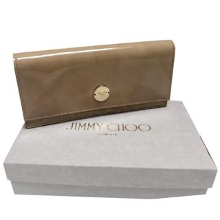 Jimmy Choo Patent Nude Fie Clutch Bag