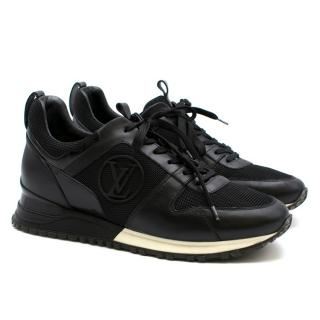 Louis Vuitton Black Leather Run Away Trainers